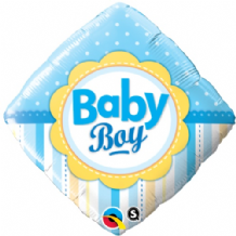 "Baby Boy Dots & Stripes Foil Balloon (18"") 1pc"